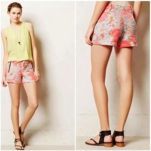 Anthro Nomad Morgan Carper Neon Floral Shorts
